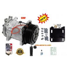Freightliner York to Sanden A/C AC 8 Groove Compressor Conversion Kit 12 Volts 2 wires 10255 TubeO