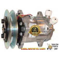 NEW A//C Compressor w//Clutch for Sanden 4747 Case Vovlo /& Western Star