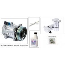 1990 - 2002 Chevy GMC 4010, 4350 Kodiak Topkick AC Compressor 4618 A/C Repair KIT 89024932